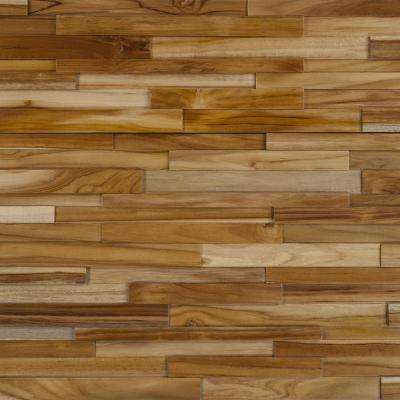 Take Home Sample - Deco Strips Cider Engineered Hardwood Wall Strips - 5 in. x 7 in.