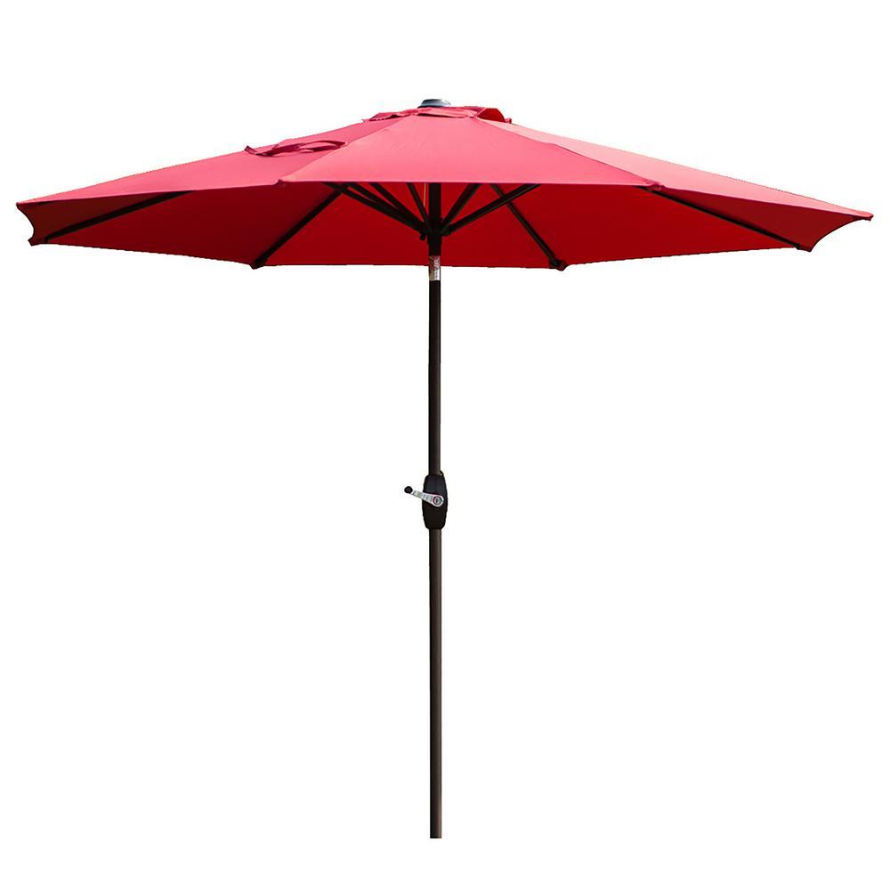 Tristen 9 ft. Aluminum Tilt Patio Umbrella in Red