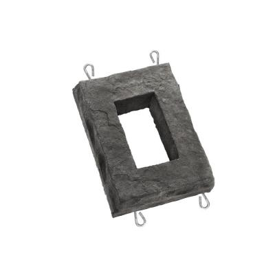 ClipStone Smoke 6 in. W x 8 in. H Outlet Stone, Smoke - Natural stone finish