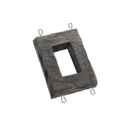 Smoke 6 in. W x 8 in. H Outlet Stone