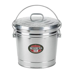 Galvanized Steel Round Trash Can With Locking Lid 6106kx The Home Depot