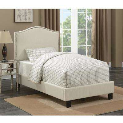Barron Ivory Twin Upholstered Bed