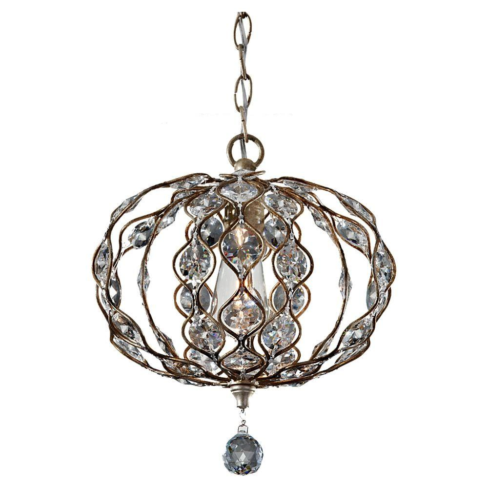 Feiss Leila Burnished Silver Large Pendant