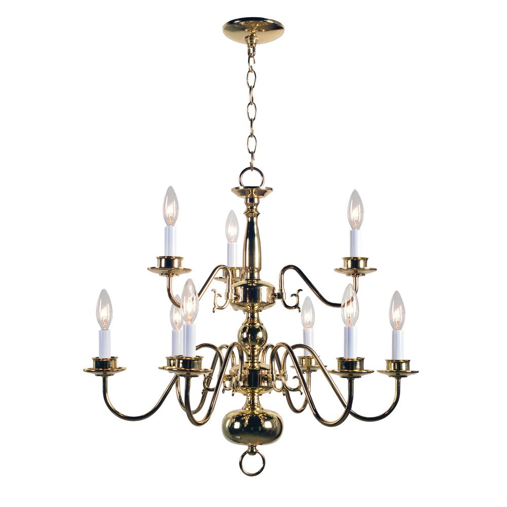 Plug in chandeliers lighting the home depot williams arubaitofo Image collections