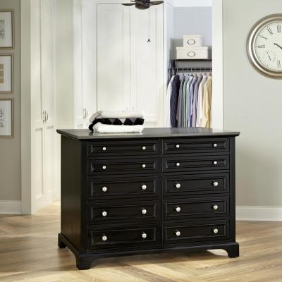 Bedford 48 in. W Black Closet Island