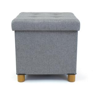 Groovy Humble Crew Gray Collapsible Cube Storage Ottoman Foot Stool Gmtry Best Dining Table And Chair Ideas Images Gmtryco