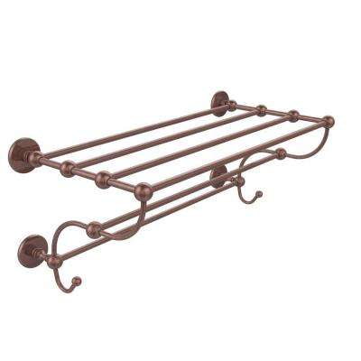 Prestige Skyline Collection 36 in. Train Rack Towel Shelf in Antique Copper