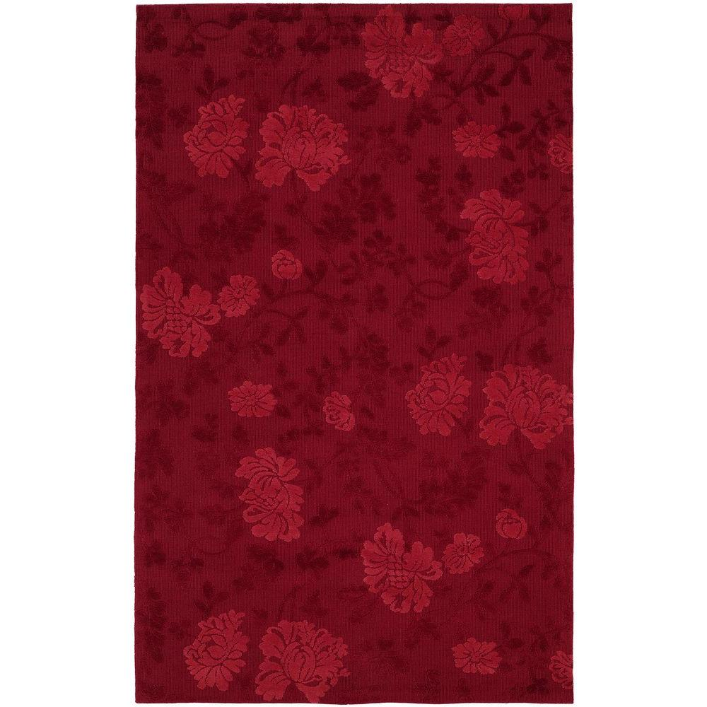 HRI Destiny Red 8 ft. x 11 ft. Area Rug-DISCONTINUED