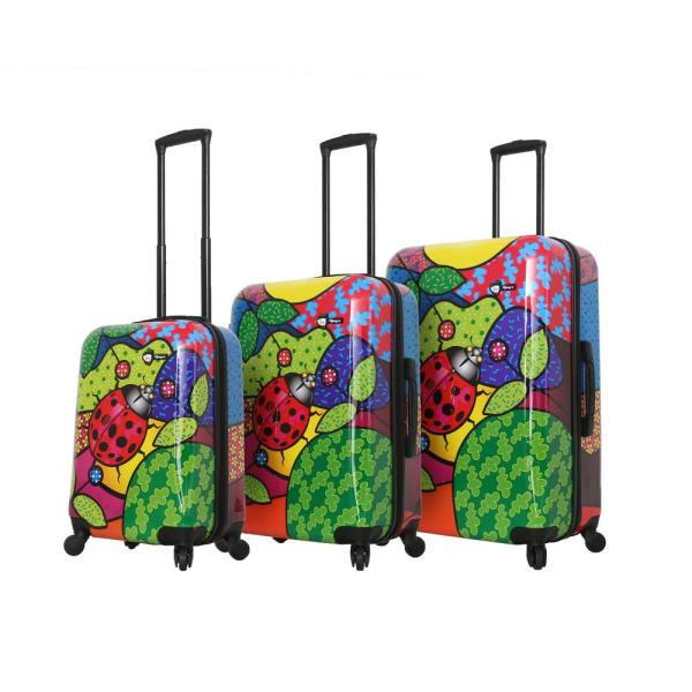 Mia Toro Allegra 3-Piece Pop Ladybug Spinner Luggage Set M1344-03PC-ALBNN
