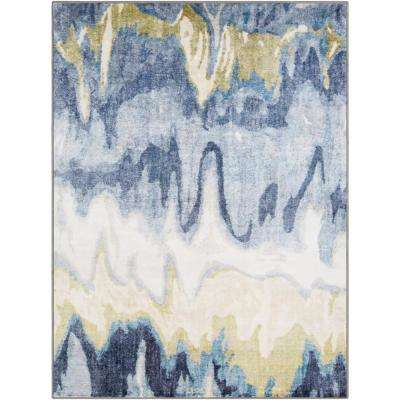 Kasimir Navy 7 ft. 10 in. x 10 ft. 3 in. Abstract Area Rug