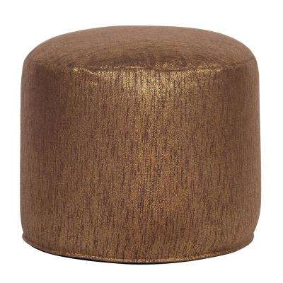 Tall Pouf Glam Chocolate Brown Ottoman