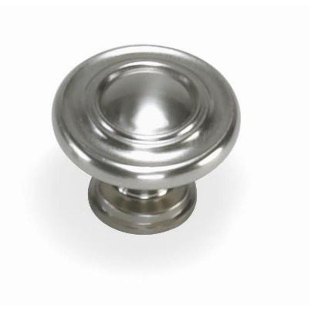 Laurey Nantucket 1-3/8 in. Satin Pewter Round Cabinet Knob
