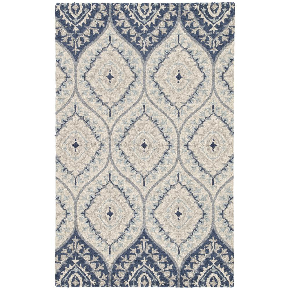Hacienda Blue 2 ft. x 3 ft. Trellis Rectangle Accent Rug