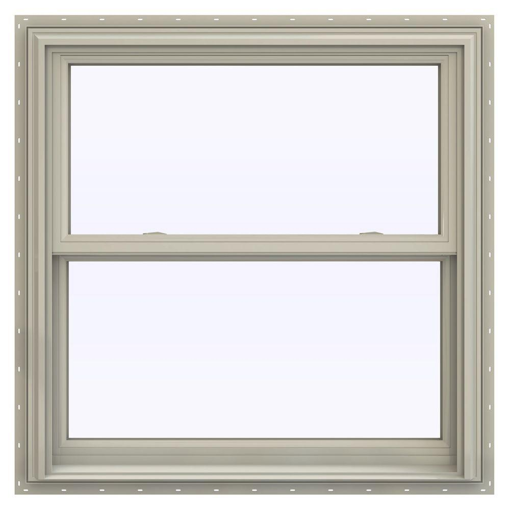 Jeld wen 35 5 in x 40 5 in v 2500 series double hung for Window treatments for double hung windows
