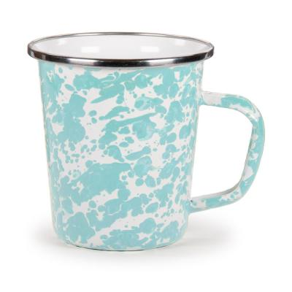 Sea Glass 16 oz. Enamelware Latte Mug Set of 4