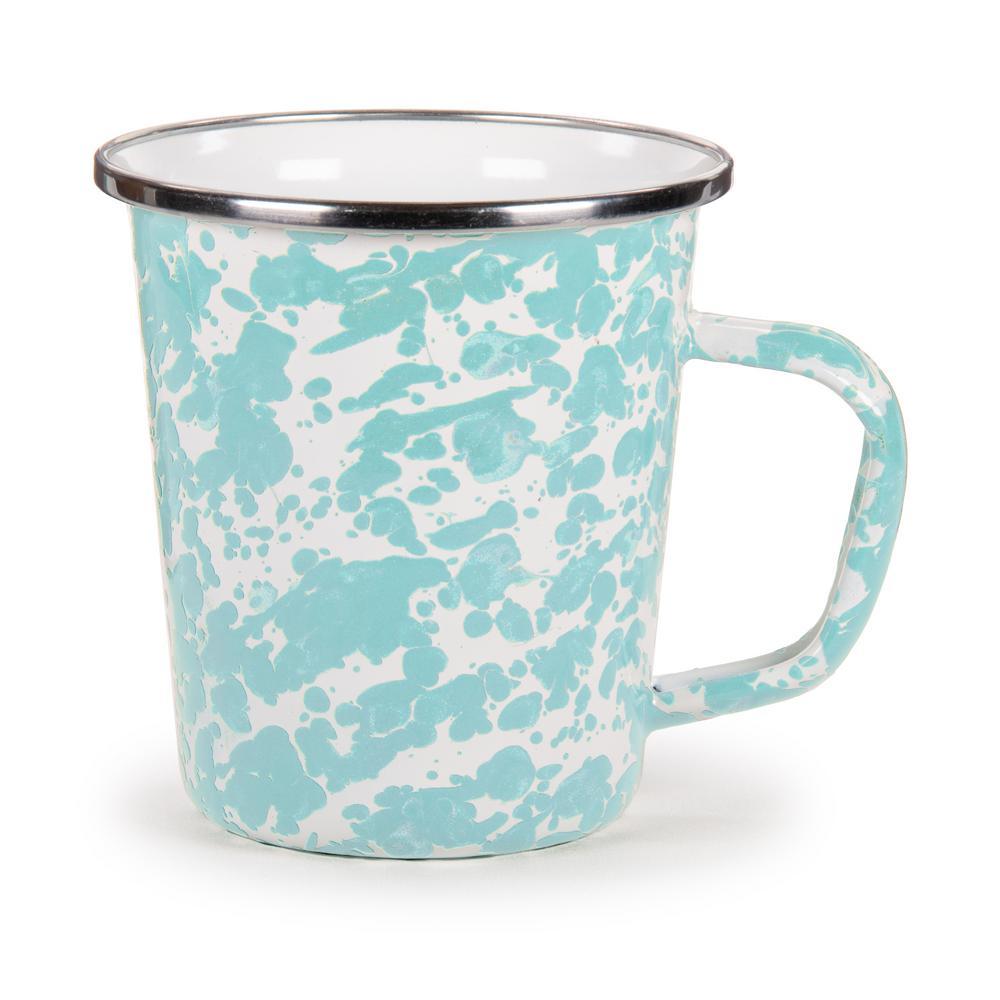 Sea Glass 16 oz. Enamelware Latte Mug
