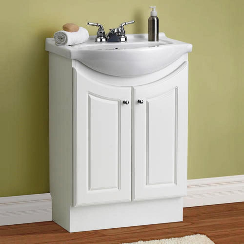 w standard vanity in white color with ceramic vanity top in white with
