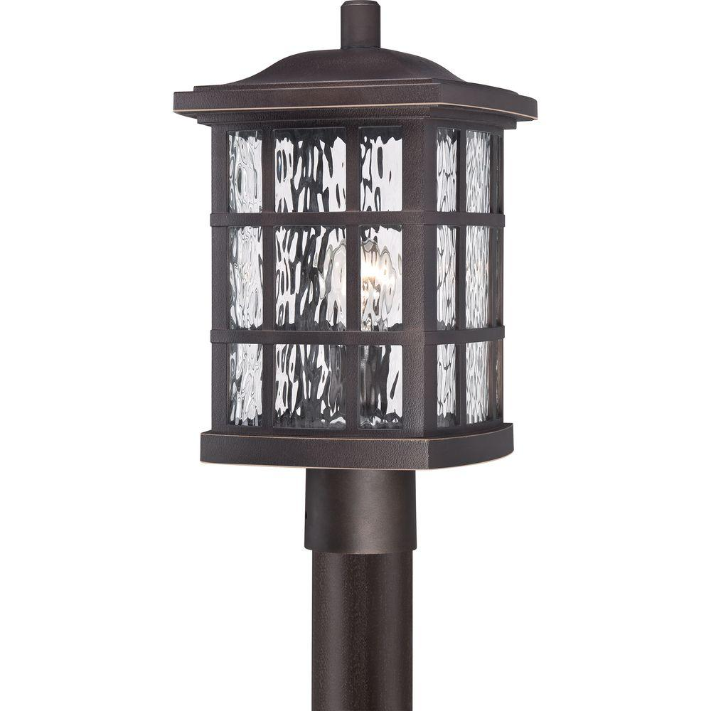 Home Decorators Collection Stonington Outdoor Palladian Bronze Post Light