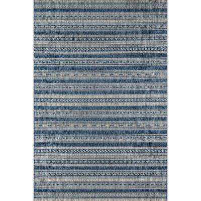 Tuscany Blue 9 ft. 3 in. x 12 ft. 6 in. Indoor/Outdoor Area Rug