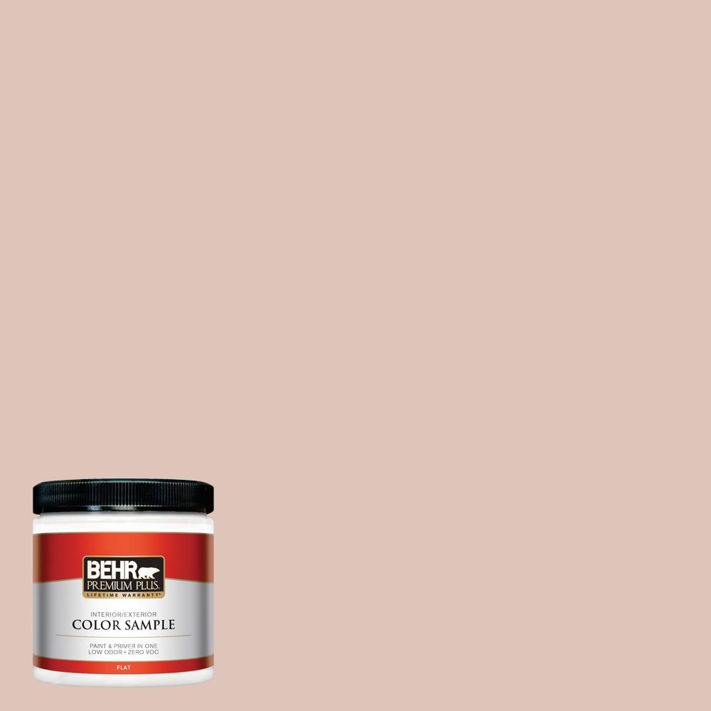 8 oz. #PPU2-07 Coral Stone Flat Interior/Exterior Paint Sample