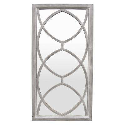 46 in. Gray Wash in Gray Wood Wall Mirror