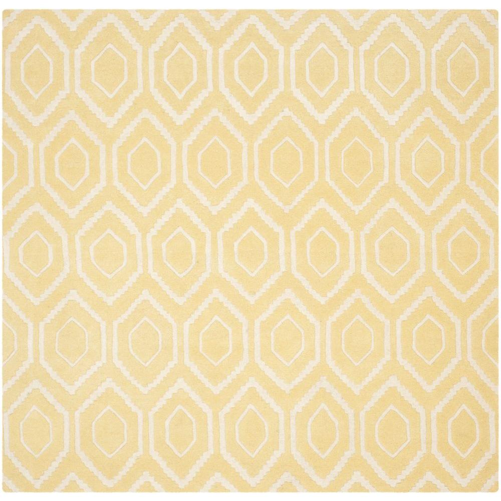 Chatham Light Gold/Ivory 7 ft. x 7 ft. Square Area Rug