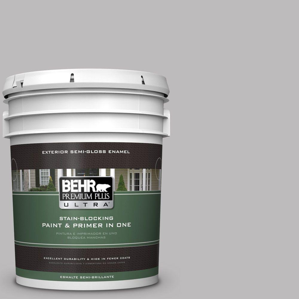 5-gal. #PPU16-11 Grape Creme Semi-Gloss Enamel Exterior Paint
