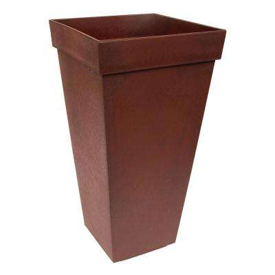 Symphony 15 in. W x 28 in. H Terra Cotta Rubber Self-Watering Planter