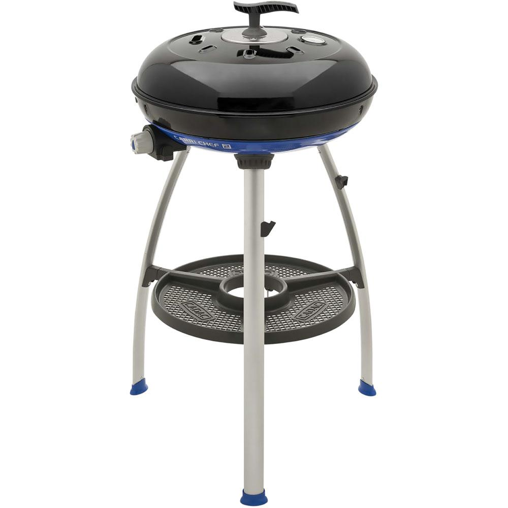 Carri Chef 2 Portable Propane Gas Grill with Pot Ring, BBQ
