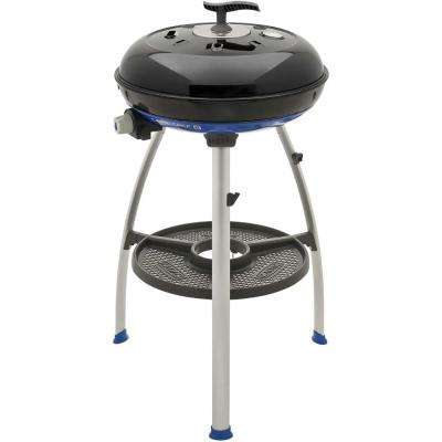 Carri Chef 2 Portable Propane Gas Grill with Pot Ring, BBQ Grill Plate, Chef Pan and RV Bracket