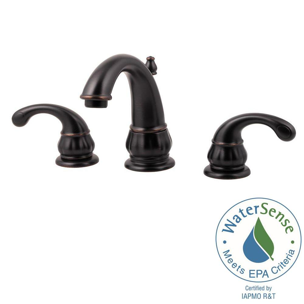 Pfister Treviso 8 in. Widespread 2-Handle Bathroom Faucet in Tuscan ...