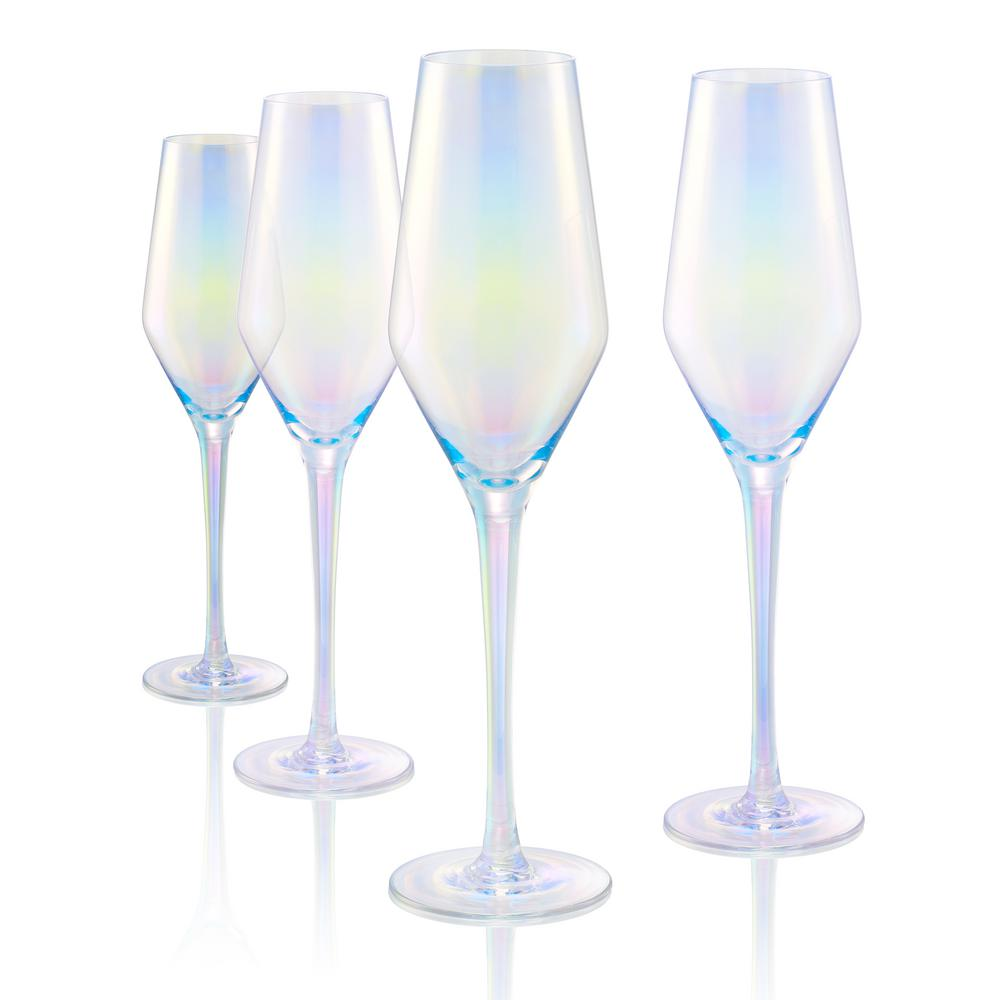 Artland 8 Oz Champagne Flute In Clear Set Of 4 12543b The Home Depot