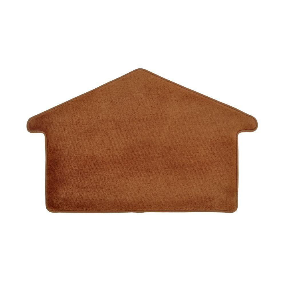 Dog House 20 in. x 32 in. Memory Foam Pet Mat, Brown
