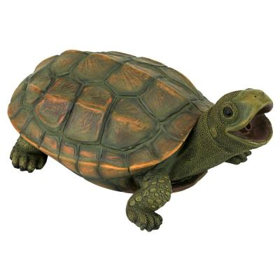 Sprinke the Turtle Stone Bonded Resin Piped Spitting Statue