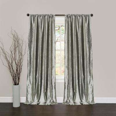 Velvet Dream Window Panel in Silver - 84 in. L x 40 in. W (2-Piece)
