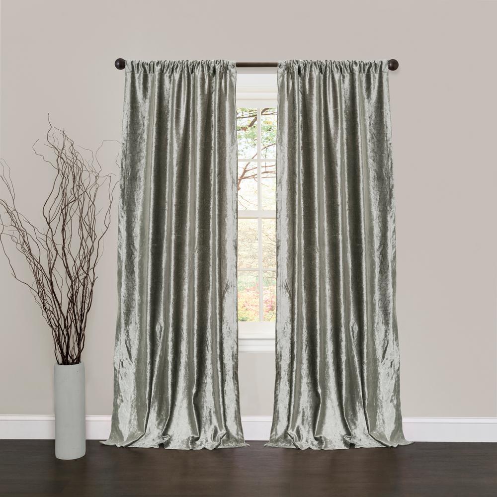 Velvet Dream Window Panel in Silver - 84 in. L x 40 in. W (2-Piece)