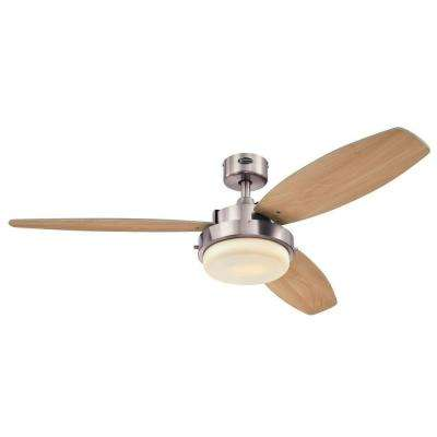 Alloy 52 in. Indoor Brushed Nickel Finish Ceiling Fan
