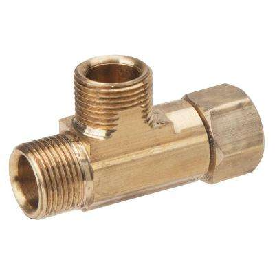 3/8 in. x 3/8 in. x 3/8 in. Compression x Compression Brass T-Fitting