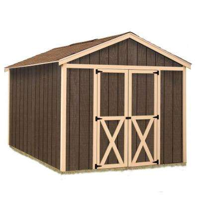 Danbury 8 ft. x 12 ft. Wood Storage Shed Kit
