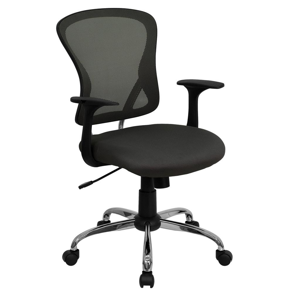 flash furniture mid back dark gray mesh swivel task chair with