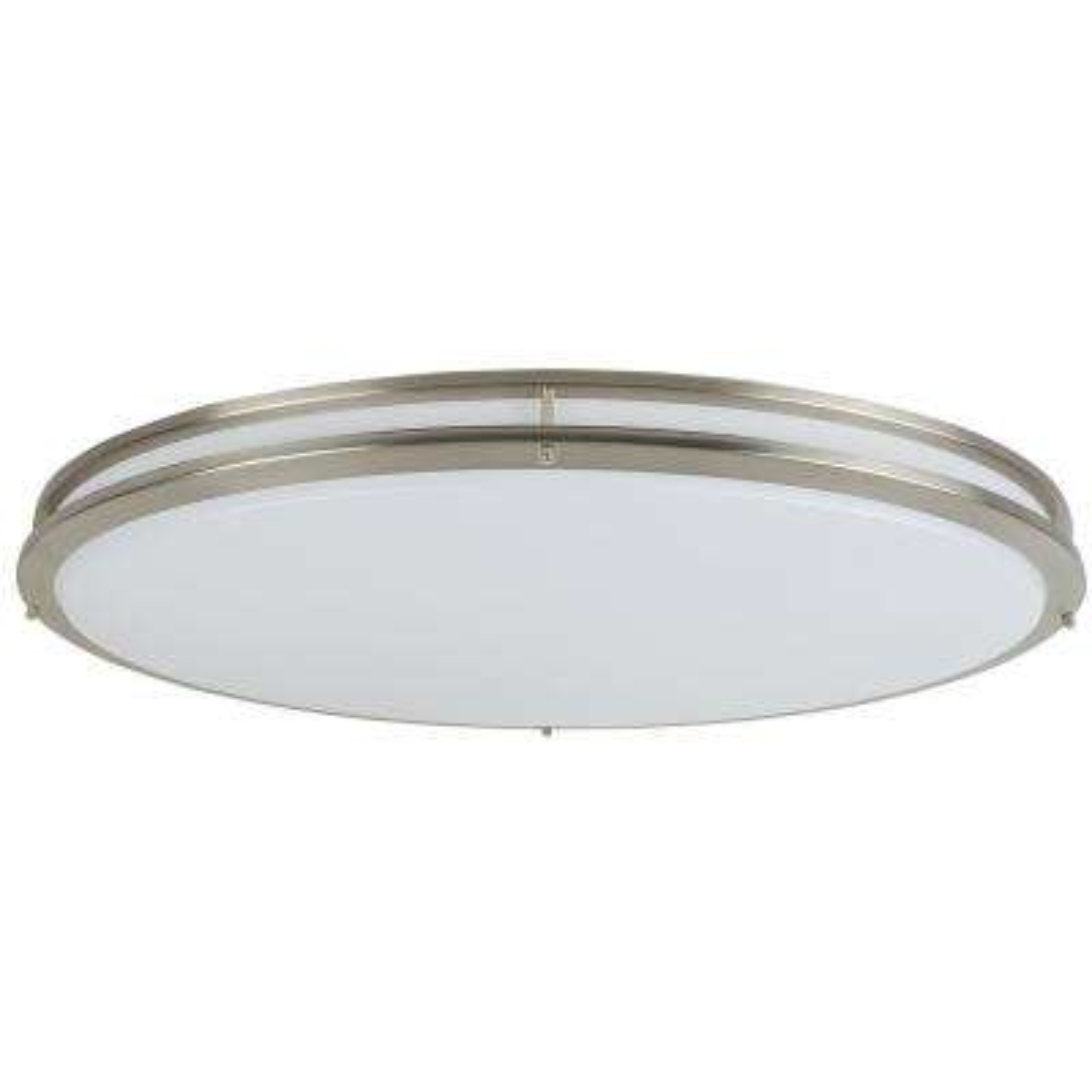 4.25 in. 1-Light Brushed Nickel Integrated LED Flush Mount Ceiling Light