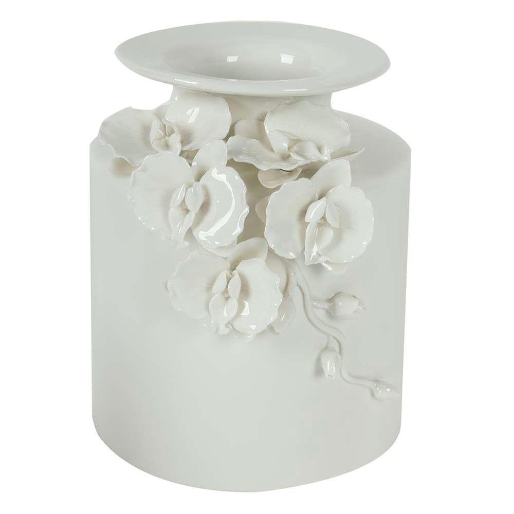 8 in. x 9 in. White Decorative Vase