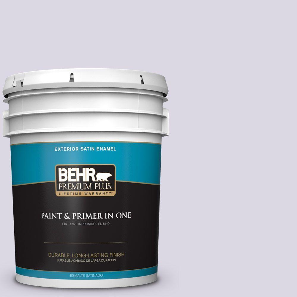 BEHR Premium Plus 5-gal. #S570-1 Misty Lavender Satin Enamel Exterior Paint