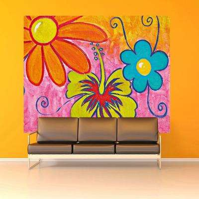 W Spring Flowers Wall Mural Part 44