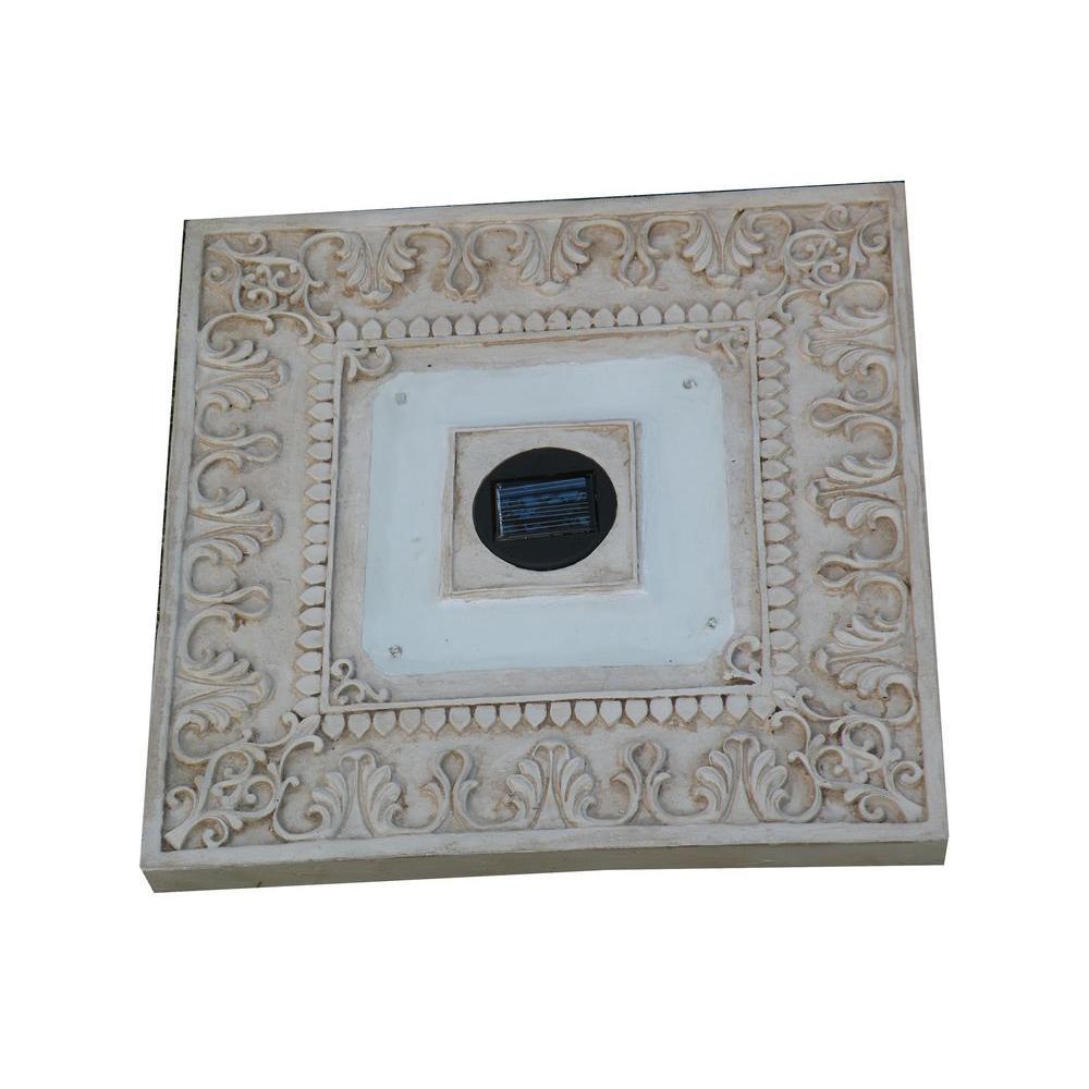 Lighting Basement Washroom Stairs: HomeBrite Solar 4-Light Solar White Outdoor LED Square