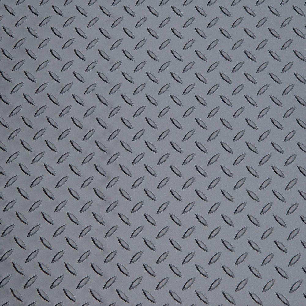 Diamond Deck Metallic Graphite 1 Car Garage Kit includes (2) 5 ft. x 24 ft. Pieces