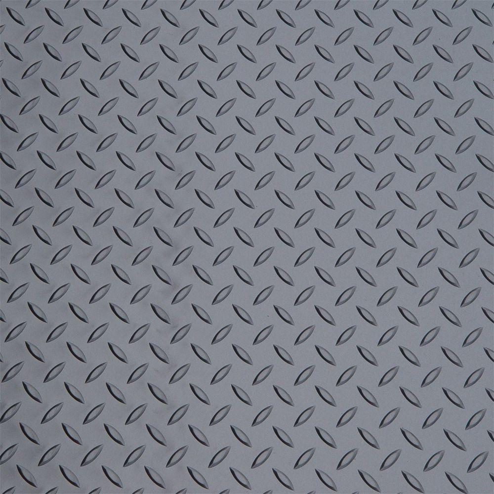 Diamond Deck Metallic Graphite 5 ft. Wide PVC Rollout Flooring