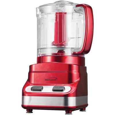 3-Cup 2-Speed Red Food Processor