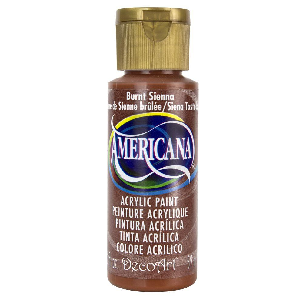 DecoArt Americana 2 oz. Burnt Sienna Acrylic Paint