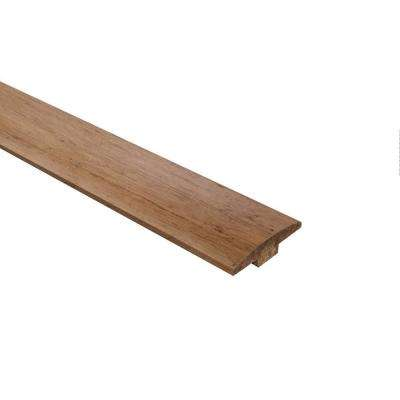 Strand Woven Bamboo Almond 0.598 in. Thick x 10.98 in Wide x 72 in. Length Bamboo T Molding